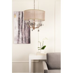 Nyle 5-Light Crystal Drum Chandelier