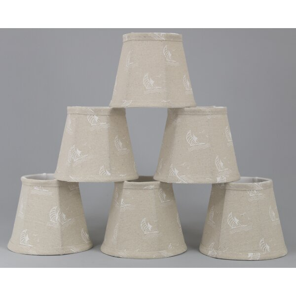 Breakwater Bay 5 H Cotton Empire Lamp Shade Clip On In Beige Wayfair