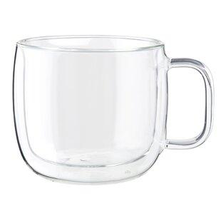 Sorrento Plus Glass Cappuccino Mug (Set of 2)