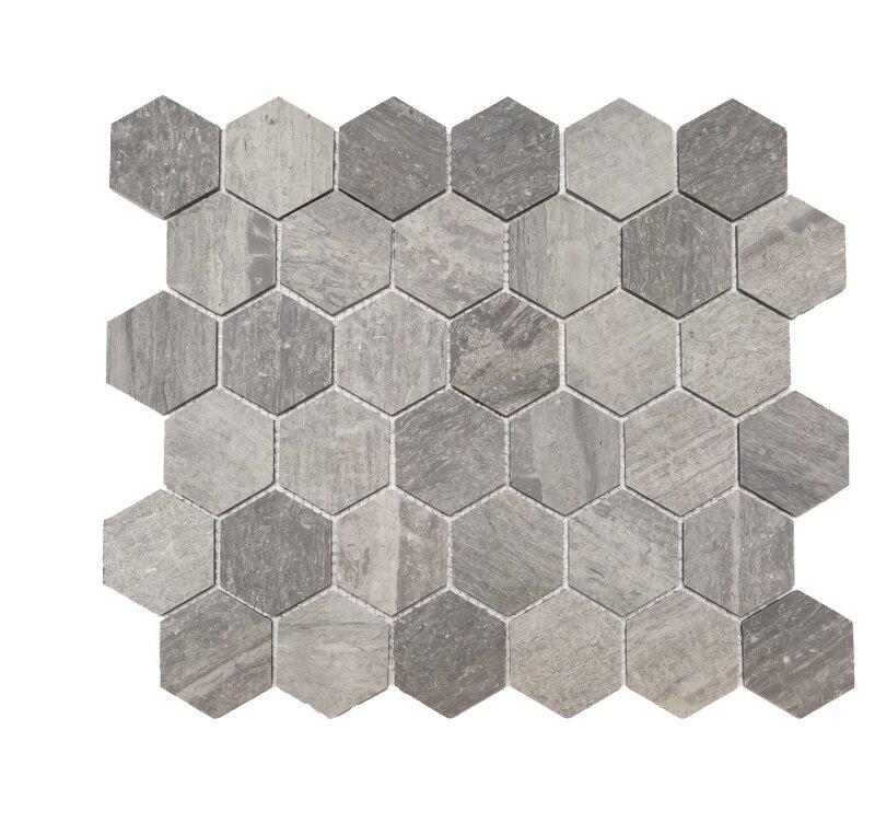 Ephesus Stones Honeycomb Honed 2 X 2 Marble Mosaic Tile In Blue