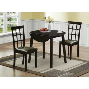Rothe 3 Piece Solid Wood Dining Set