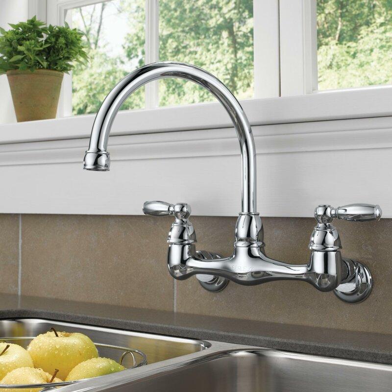 Peerless Faucets Double Handle Kitchen Faucet & Reviews | Wayfair