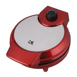Red Metallic Heart Shape Waffle Maker