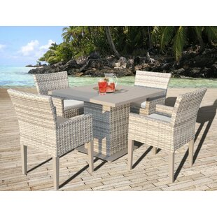 Fairmont 5 Piece Dining Set with Cushions By TK Classics