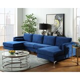 Meloy 124 Velvet Symmetrical Modular Sofa & Chaise by Brayden Studio®