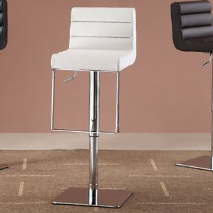 Pascal Adjustable Height Swivel Bar Stool Orren Ellis