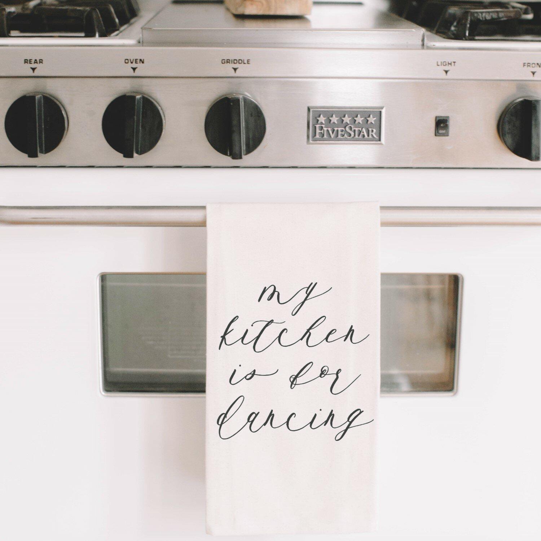 Gracie Oaks My Kitchen Is For Dancing Tea Towel Wayfair
