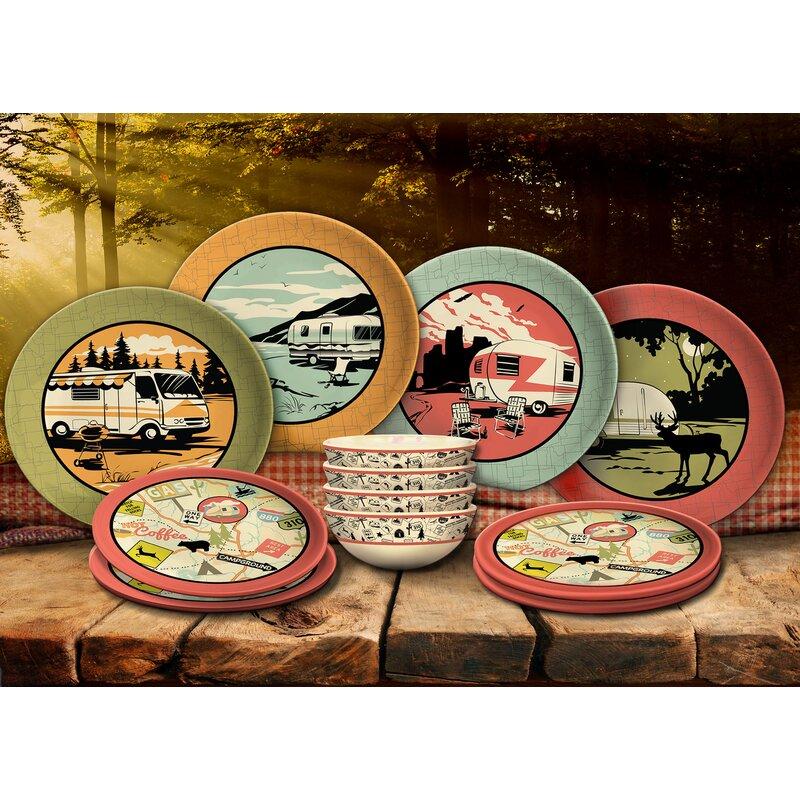 Piece Melamine Dinnerware Sets