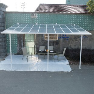 Outsunny Outsunny 18 ft. W x 10 ft. D Patio Awning