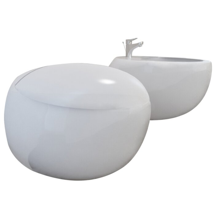 Awesome Wall Hung Toilet And Bidet With Automatic Lowering Seat Alphanode Cool Chair Designs And Ideas Alphanodeonline