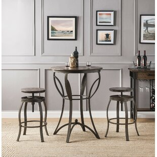 Corrigan 3 Piece Counter Height Dining Set by Millwood Pines
