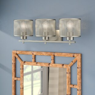 Compare prices Mulligan 3-Light Vanity Light By Beachcrest Home