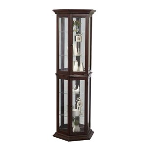 Arbor Lake Lighted Curio Cabinet by Darby Home Co