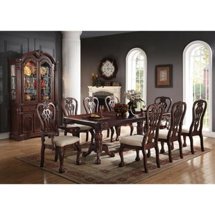 Yip Artfully Solid Wood Dining Table by Astoria Grand