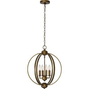 Gracie Oaks Mcveigh 4-Light Globe Chandelier