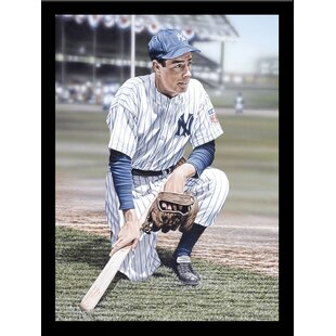 'Joe Dimaggio' Print Poster by Darryl Vlasak Framed Memorabilia by Buy Art For Less