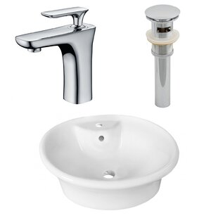 Ceramic Oval Vessel Bathroom Sink with Faucet and Overflow ByRoyal Purple Bath Kitchen
