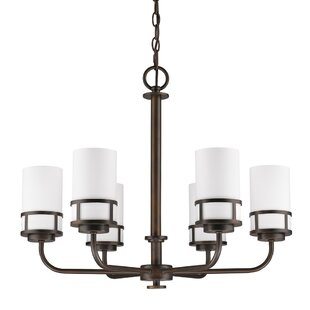 Ebern Designs Mcduff 6-Light Shaded Chandelier