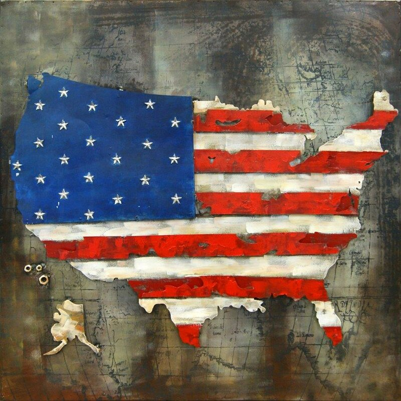 Exceptional 3D US American Flag Wall Decor