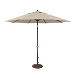 Cyanne 9 Octagon Auto Tilt Market Umbrella in - Antique Beige