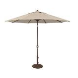 Cyanne 9 Octagon Auto Tilt Market Umbrella in - Antique Beige