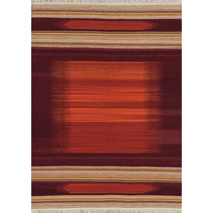 Santana Handmade Red Area Rug