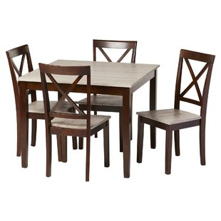 Tilley Rustic 5 Piece Dining Set by Andover Mills No Copoun