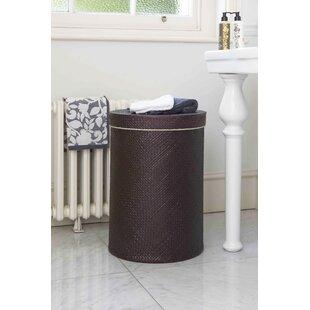 Salcombe Round Wicker Laundry Bin By Symple Stuff