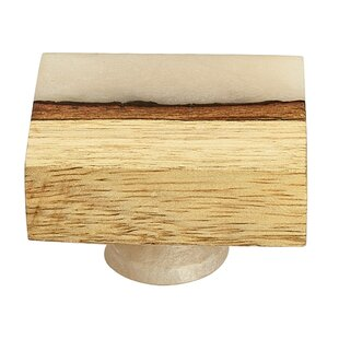 Frosted Straight Timber Resin Square Knob (Set of 8)