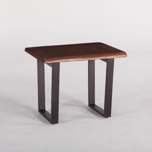 Belfrie Acacia Wood End Table by World Inter..