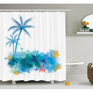 Reviews Coconut Palm Trees Shower Curtain ByEast Urban Home