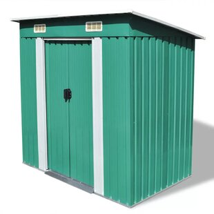 6 Ft. W X 4 Ft. D Apex Metal Shed By WFX Utility