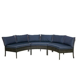 Petunia Circular Patio Sectional With Cushions by Breakwater Bay Great price