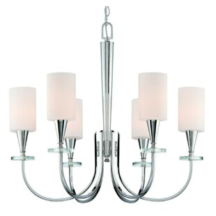 Dominesey 6-Light Shaded Chandelier by Ebern Designs