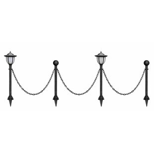Myfuncorp Vintage Chain Guardrail Lamp Post 2-Light LED Set