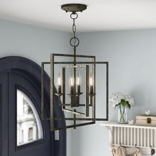 Gracie Oaks Zoe 4-Light Lantern Chandelier