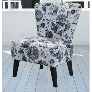 Briscoe Grey Flower Slipper Chair