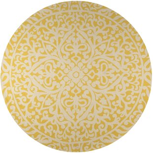 St James Hand-Hooked Gold Indoor/Outdoor Area Rug