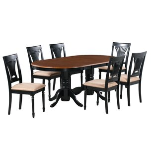 Schacht 7 Piece Extendable Solid Wood Dining Set by Winston Porter 2019 Sale