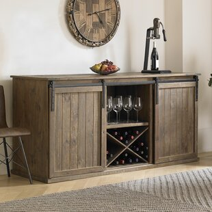 Mesa Sliding Door Credenza Wine Enthusiast