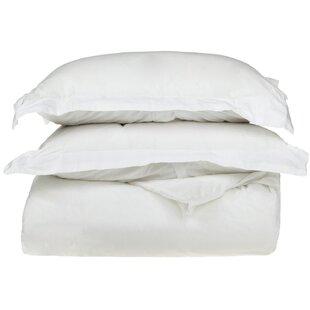 Reversible 100% Egyptian-Quality Cotton Duvet Cover Set