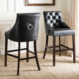 Kaczmarek 45 Bar Stool with Cushion (Set of 2) DarHome Co