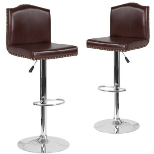 Price Check Wauseon Adjustable Height Swivel Bar Stool (Set of 2) by Winston Porter Reviews (2019) & Buyer's Guide