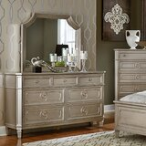 Haneul 7 Drawer Dresser with Mirror by Willa Arlo Interiors