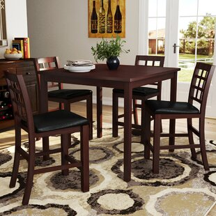 Plymouth 5 Piece Counter Height Dining Set Red Barrel Studio