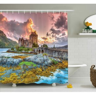Scenery Princess Dream Castle Print Single Shower Curtain