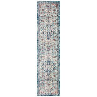 Grieve Blue/Red/Beige Area Rug by Bungalow Rose
