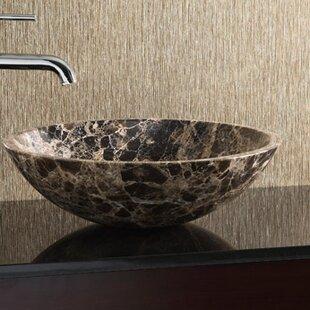 Marble Stone Circular Vessel Bathroom Sink Ryvyr