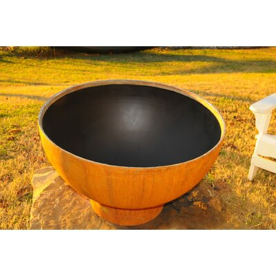 Fire Pit Art Crater Steel Propane Fire Pit Ignition: Match Lit, Fuel Type: Natural Gas