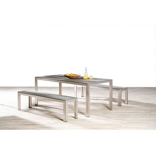 Lilli Dining Table And 2 Benches By Kampen Living